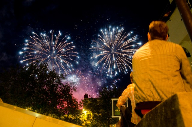 viewing fireworks from sir garnet