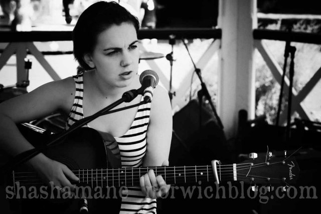 milly hirst at the bbc introducing stage in chapelfield gardens
