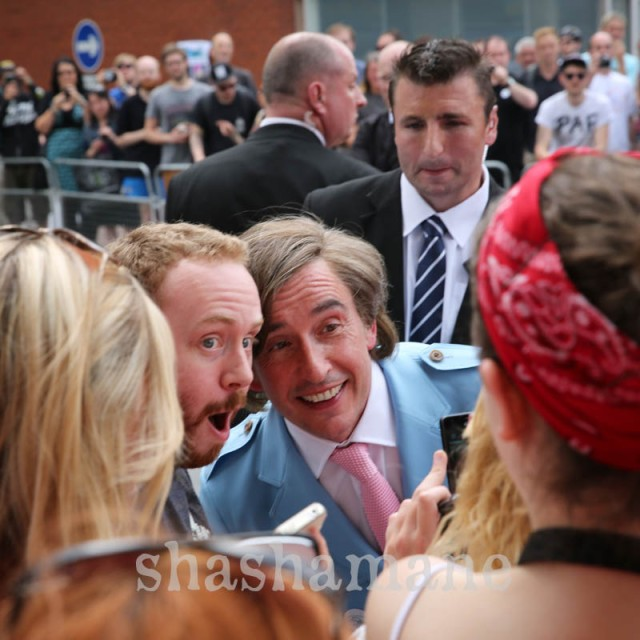 alan partridge with fans