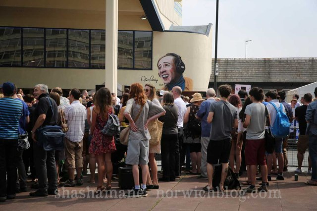 crowds outside the hollywood cinema in anglia square for the alan partridge 'alpha papa' movie world premiere