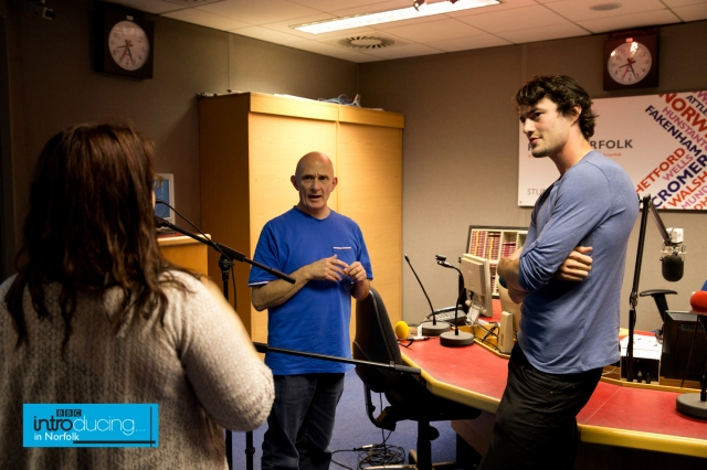 george cheetham with the BBC Introducing team