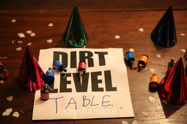 dirt level table