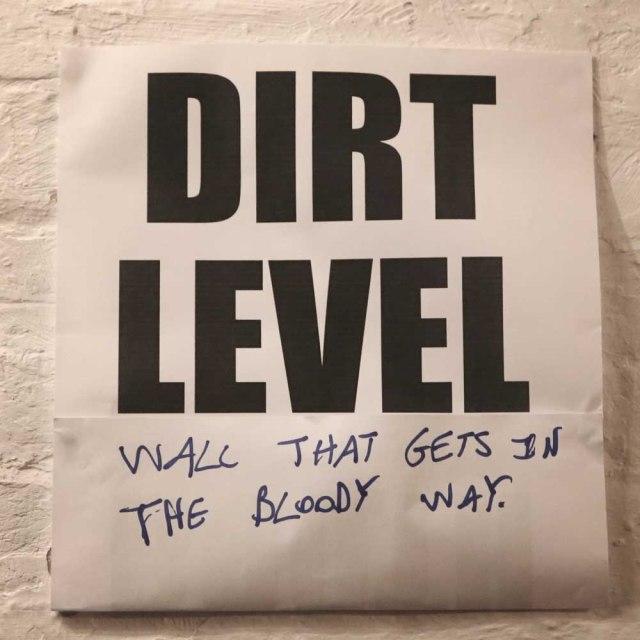dirt level wall
