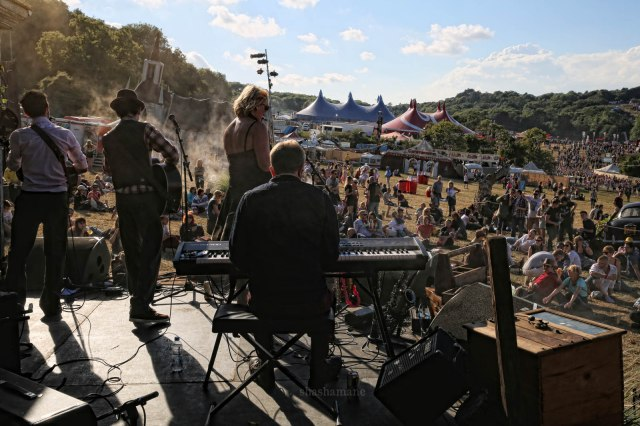 The Vagaband, the view from the back of the Swamp Shack stage
