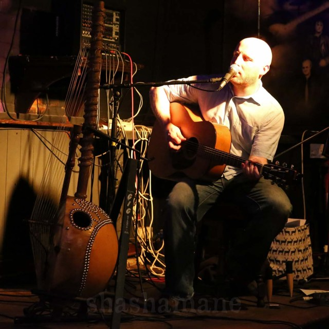 Adam Clark, performing with Sefo Kanuteh and Meriya