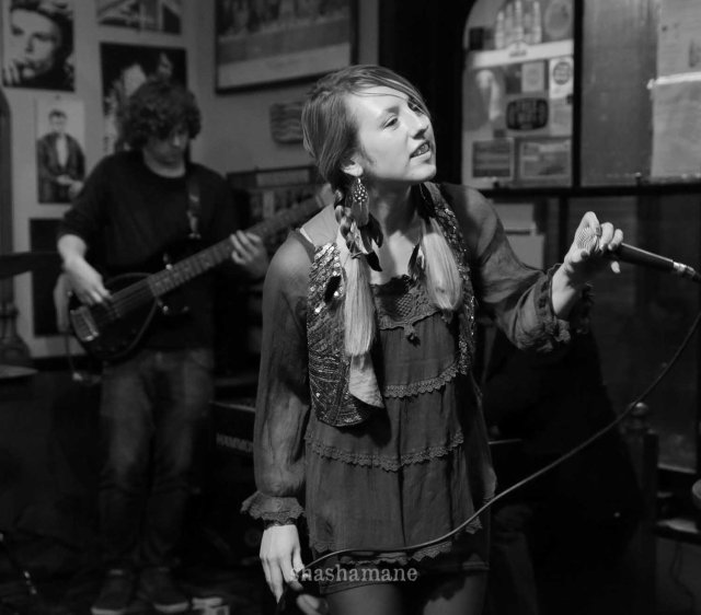 Lauren Dove at a recent Dove and Boweevil Band gig