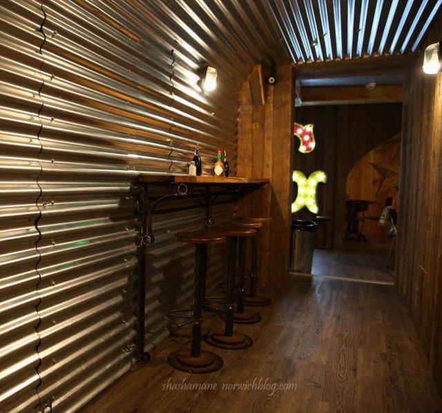 """Grosvenor Fish Bar, """"bunker"""" basement"""