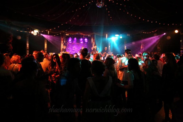 """The Original Rabbit Foot Spasm Band at """"Bojangles"""" Bo Nanafana in The Spiegeltent for NNF14"""