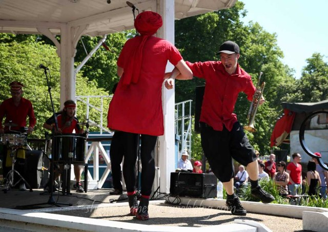 Orkestra del Sol, playing in the bandstand earlier in the day