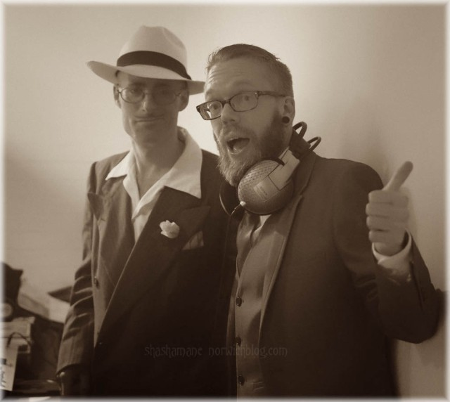 The excellent Drink 'n' Jive djs, Earl Harlem and Dan Reynolds