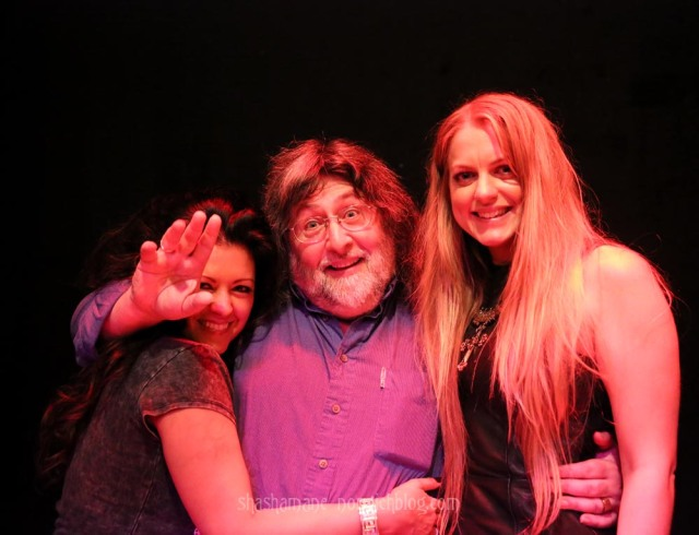 Malaya and Jo with Steve from Blues Matters magazine
