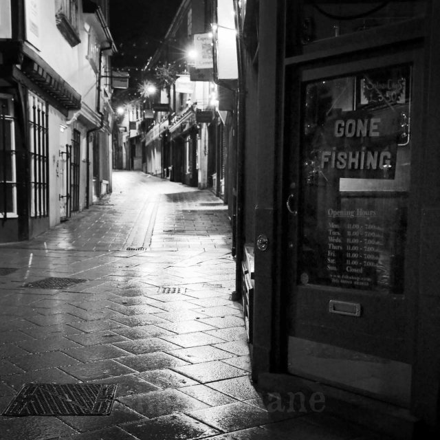 grosvenor fish bar - night time norwich