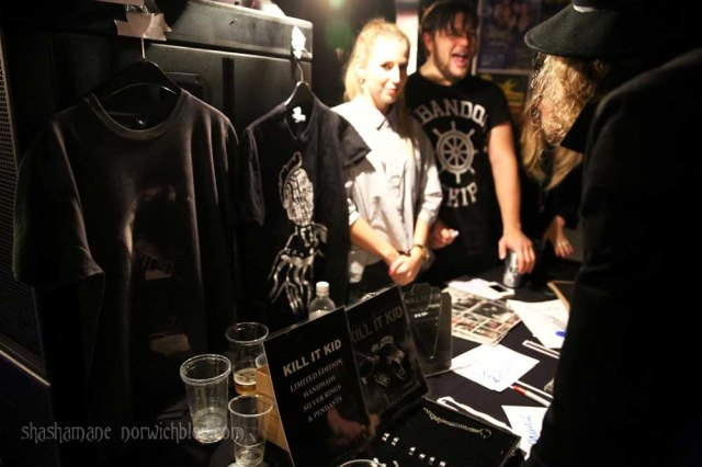 Kill It Kid merch stall, with a range of KIK jewellery by rksjewellery.com