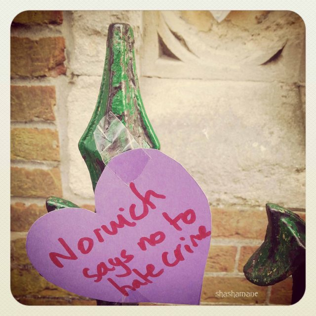 """Norwich says No to hate crime"" photo (c) shashamane"