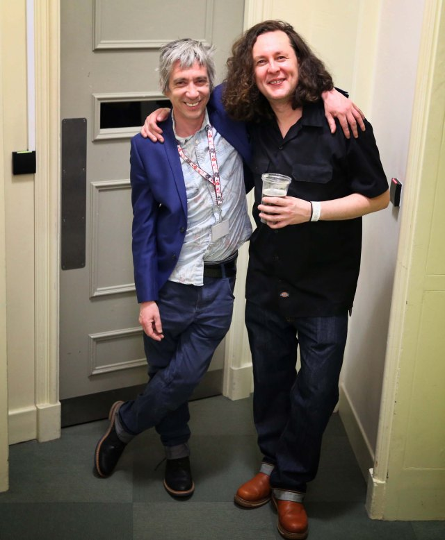 Rick Lennox with Miles Hunt, backstage after the gig. (c) shashamane 2015
