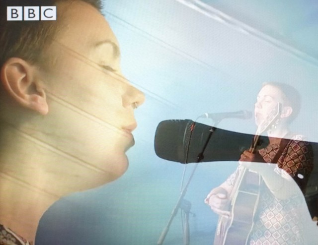 Milly Hirst during the BBC Glastonbury coverage (c) BBC