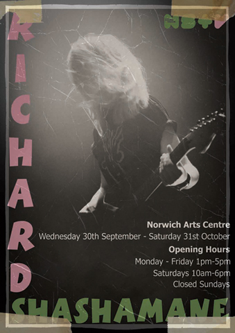 Norwich Arts Centre's poster for my exhibition