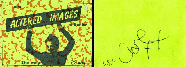 altered images uea gig ticket